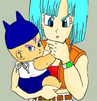 Bulma_and_Baby_Trunks_n_n_by_MsGeorgie