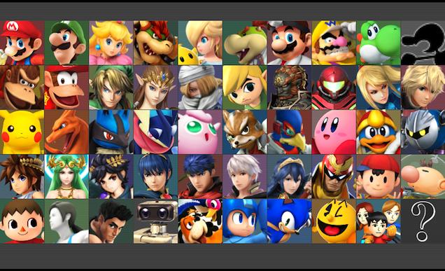 Full Smash Bros 3DS Roster