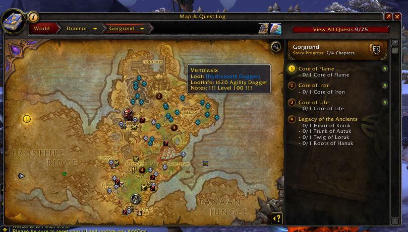 Hunt down those draenor rare spawns easier with these wow addons handynotes gumiabroncs Images